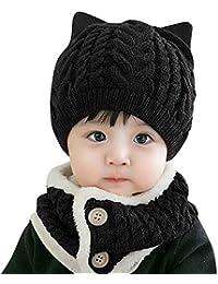 Liqiqi    Bambino Cappello Neonato Inverno Primavera Regalo Knitting  Berretto Sciarpa Set  0480362d2537