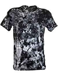 Tie Dye Black Scrunch T-Shirt