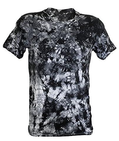 Tie Dye Black Scrunch T-Shirt 2XL