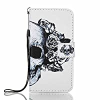 Galaxy A3 2017 Wallet Case, ESSTORE-EU [Free USB Charging Cable] with Flip/Stand/Credit Card Holder/Magnetic Closure/TPU Bumper/360 Full Body Protection for Samsung Galaxy A3 2017, Skeleton