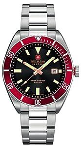 Swiss Military Hanowa 06-5214.04.007.04 - Reloj analógico de cuarzo para hombre, correa de acero inoxidable color plateado de Swiss Military Hanowa