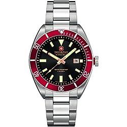 Swiss Military Hanowa Men's Quartz Watch 06-5214.04.007.04 06-5214.04.007.04 with Metal Strap
