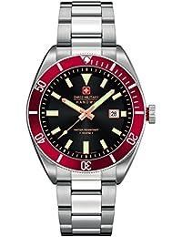 Swiss Military Hanowa 06-5214.04.007.04 - Reloj analógico de cuarzo para hombre, correa de acero inoxidable color plateado