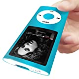 Mymahdi Lettore MP3/MP4 Digitale, Support Massimo 64 GB Micro SD Card, Visualizzatore Foto e Video, E-Book Reader, Radio FM, Registratore Vocale, Blu