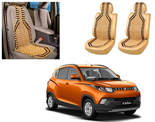 Auto Pearl - Premium Quality Car Wooden Bead Seat Cover For - Mahindra KUV 100 - Set of 2Pcs