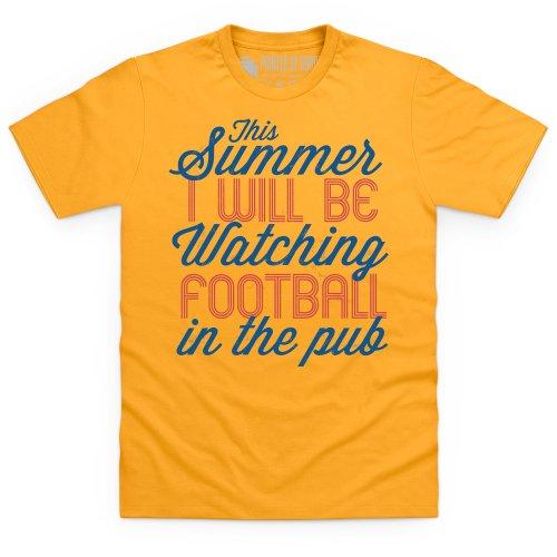 Football In The Pub T-Shirt, Herren Gelb