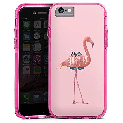 Apple iPhone X Bumper Hülle Bumper Case Glitzer Hülle Flamingo Sommer Summer Bumper Case transparent pink