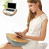 SED Multifunktions-Kleiner Tisch-Haushalts-Ausgangsbambus-Schoß-Schreibtisch mit dem Laptop-Ablagefach, Das für Bett-Couch-Sofa-Stuhl-Schlafzimmer-einfache Studie-Tabelle groß ist,Blau