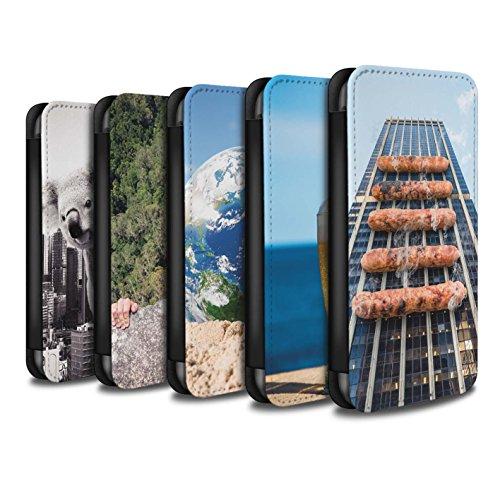 Stuff4 Coque/Etui/Housse Cuir PU Case/Cover pour Apple iPhone 4/4S / Travaux Routiers Design / Vers Bas Sous Collection Pack 14pcs