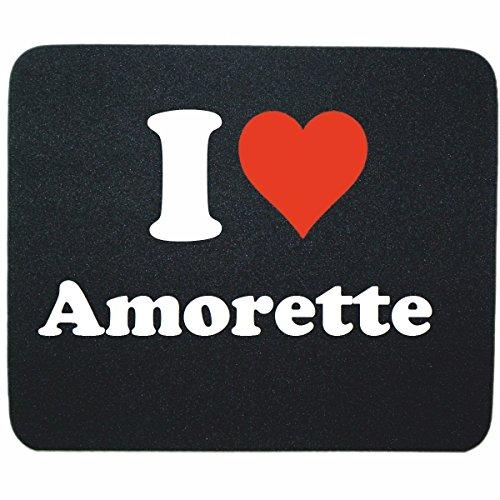"""Regali Esclusivi: Tappetini per il Mouse """"I Love Amorette"""" in Nero, un Grande regalo viene dal Cuore - Ti amo - Mouse Pad - Antisdrucciolevole - Punte di Natale"""