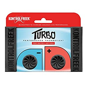 KontrolFreek Turbo Performance Thumbsticks für Nintendo Switch Joy-Con (Schwarz)