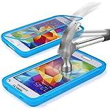 Samsung Galaxy S5 Hülle Original UrCover® inkl. Displayschutz Touch-Case rundum Schutz Tasche [DEUTSCHER FACHHANDEL] Handy Cover Schale Etui Full View-Case Hell Blau
