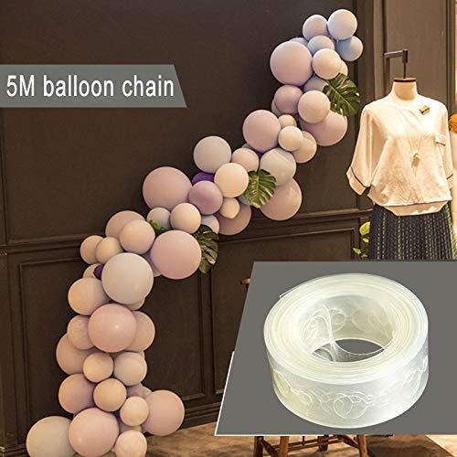 Majome Ballon-Kettenbogen schließen Streifen-Halter-Band 5m für die Verzierung der Geburtstags-Party-Hochzeit an