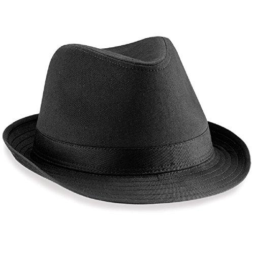 Beechfield Fedora Hut, verschiedene Farben Large / X-Large,Schwarz (Kubanische Mann Kostüm)