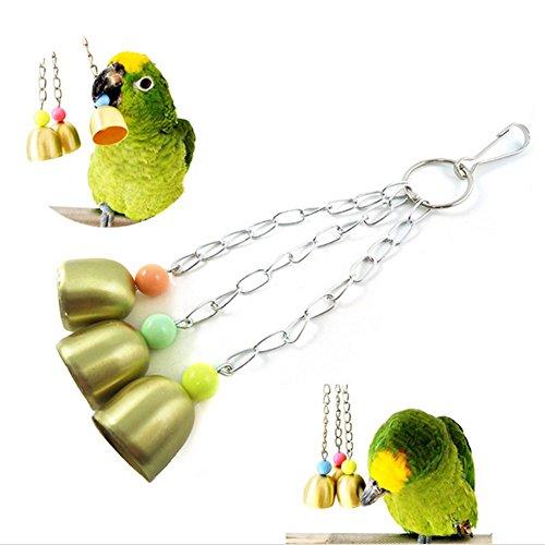Milopon Papageienspielzeug Papageien Sittich Wellensittich Vögel Kauspielzeug mit Glocken (Vogel Glocke)