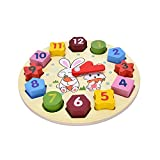 #8: Toyshine Wooden Blocks Toys Digital Geometry Clock Baby Kids Early Education Puzzle Set