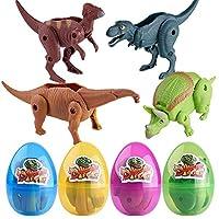 Lenfesh 1PC Dinosaur Egg Toys,9X5.5cm Simulation Dinosaur Toy Model Deformed Dinosaur Egg Collection For Kids