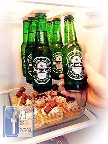 Vu sur Facebook / Porte-bières support magnétique pour 6 bières / Gagner de la place dans votre réfrigérateur