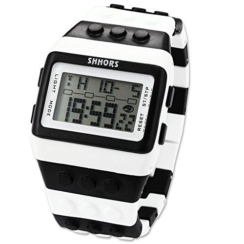 EASTPOLE LED095 - Reloj Digital Unisex, Correa de Goma,, LED