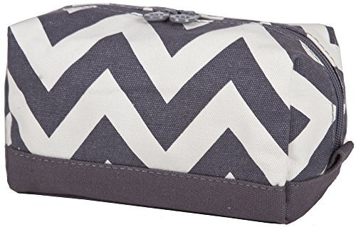 ever-moda-grey-zig-zag-chevron-cosmetic-makeup-bag-by-ever-moda