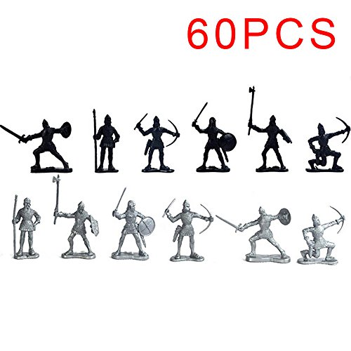 dat realistische Kinder Spielzeug Plastik Warriors Original Mittelalterliches Action Model Mini Learn (Mittelalterliche Ritter Für Kinder)