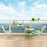 Faltreifen Tabelle Metallklapptisch Für Balkon, Handlauf-hängender Tisch, Grünes Fenster-Geländer An Der Wand Befestigte Faltbare Tabelle Test