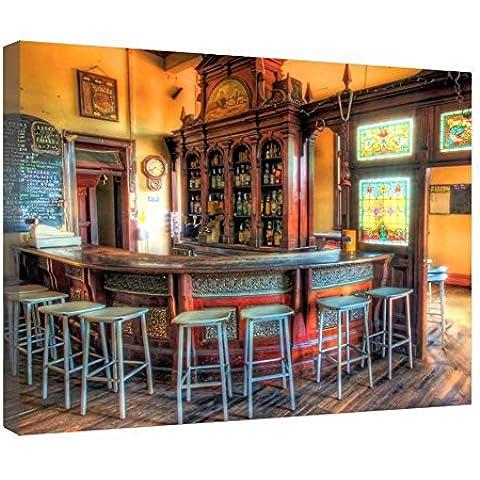 LeeQueen Las Impresiones Sobre Lona Arte de la Pared - Toscana Vieja Bar - Antecedentes Consejo de Madera Estirada Abrigo de la Lona Listo Para Colgar Para el Hogar y la Decoración de la Oficina - 24