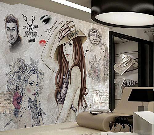 Afashiony Papel Tapiz Mural Foto Póster Decoración De Pared Hd Moda Moderna Belleza Pintada A Mano Herramientas De Peluquería Fondo De Pared Panorama 3D Papel Tapiz Mural-200X140Cm