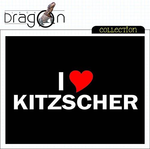 T-Shirt mit Städtenamen - i Love Kitzscher - Herren - unisex Schwarz