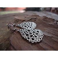 ✿ GEBLÜMTE TAUTROPFEN ✿ verzierte Tropfen Ohrringe