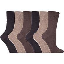IOMI - 6 pares mujer sin elasticos diabeticos calcetines para la circulacion