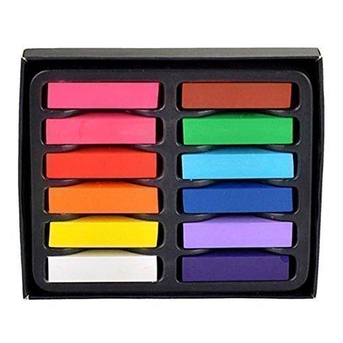 de Farbe Pastell Hair Dye-nicht giftig in 12PC von trimmen Shop, multi, Einzelbett ()