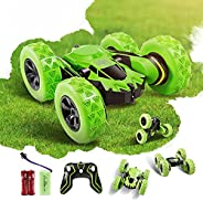 Faylor RC Stunt Car Rechargeable Racing Car with 2.4Ghz Remote Control, High Speed Car Toys 4WD Double Sided 3