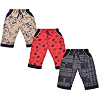 Dove Garments 100% Cotton Printed Capri for Boys | Regular Fit 3/4th Pants for Boys (Pack of 3,2 & 5)