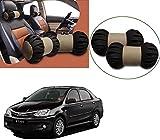 #7: Auto Pearl - Premium Make Cola Beige Round Car Neck Cushion/Neck Pillow For - Toyota Etios