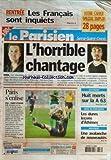 PARISIEN SEINE SAINT DENIS [No 18652] du 30/08/2004 - rentree, les francais sont inquiets irak, les reunions de crise et l'annonce par l'armee islamique de la prise en otage des 2 journalistes francais christian chesnot et georges malbrunot - foot, p