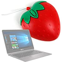 Ratón Con Forma De Fresa Para Portátil Acer Predator 17 X / Asus ZenBook Flip UX360UA - Con Conexión USB - DURAGADGET