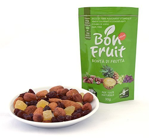 Bon Fruit - 20 buste da 30g di frutta secca e disidratata