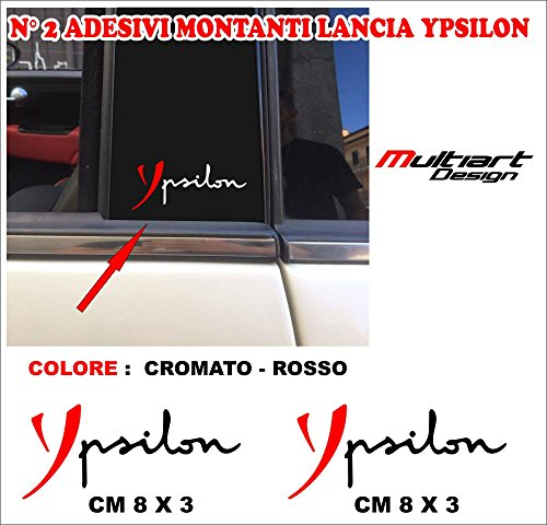 Multiart Design Adesivi Stickers MONTANTI per Lancia Y - Tuning Stickers Professionali