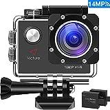 Victure Action Kamera WIFI 14MP Full HD 1080P Unterwasserkamera Sport Action Camera Cam 2.0 Zoll...