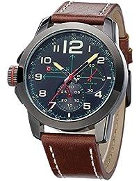Wishar CURREN Fashion Simple Casual cinturón de cuero los hombres de  negocios reloj 036167eeb86f