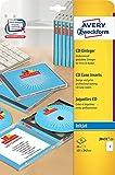 Avery Zweckform J8431-25 CD-Einleger für Slim Case (A4, 25 Stück, 121 x 242 mm) 25 Blatt weiß