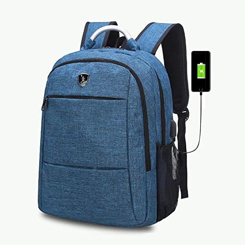 Computerrucksackgeschenkrucksack USB-Aufladung, blau Hunan-serie