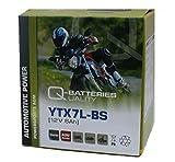 Q-Batteries Motorrad-Batterie YTX7L-BS AGM 50614 12V 6Ah 110A