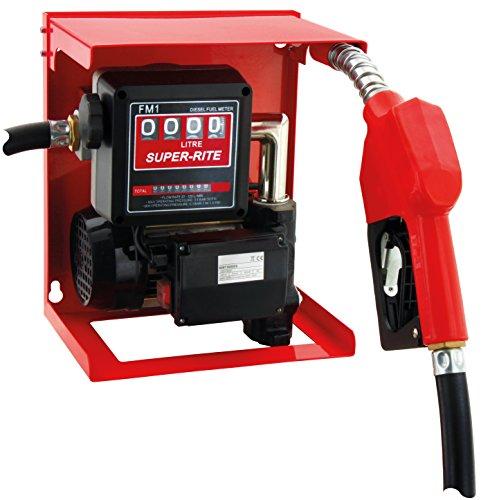 """Preisvergleich Produktbild BLUREA Diesel Hof-Tankstelle,  Dieselpumpe + Automatische Zapfpistole mit 3 / 4"""" Innengewinde und 4m Schlauch+ Zählwerk,  Komplett-Set,  60l / min,  230V,  zum Befüllen von Nutzfahrzeugen,  Baumaschinen"""