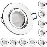 LEDANDO 10er LED Spanndecken Einbaustrahler Set Chrom 5W DIMMBAR GU10 Deckenstrahler - Spots - Deckspot - 230