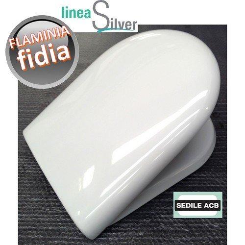 Sedile per wc FIDIA Flaminia in termoindurente avvolgente - ACB Ercos Silver