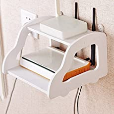 Aaj Jio MoohMaya Double Layer Wall Mounted Car Design Shelf (White, 22x 21x15cm)