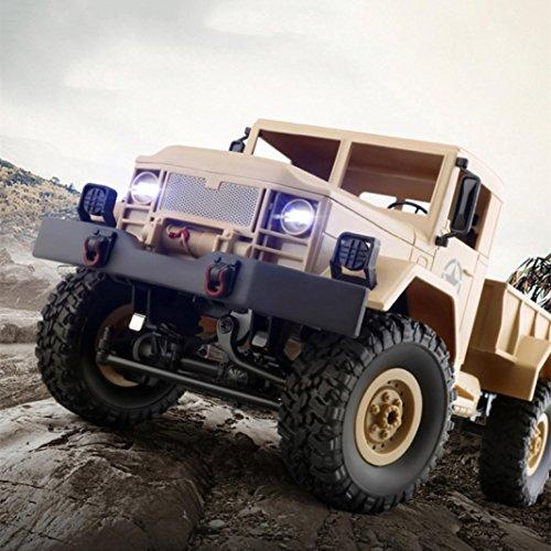 Wokee WPLB-14 Rock Crawler,Ferngesteuertes Auto,1:16 RC Auto,4WD Monster Truck/Off Road Fahrzeug,Spielzeug Grade 4WD RC Militär Truck Wireless Fernbedienung Auto - Auto 1 Scale Rc 15