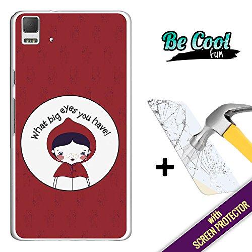 Becool® Fun- Funda Gel Flexible para Bq Aquaris E5 4G [ +1 Protector Cristal Vidrio Templado ],Carcasa TPU fabricada con la mejor Silicona, protege y se adapta a la perfección a tu Smartphone, con nuestro exclusivo diseño. Caperucita Roja